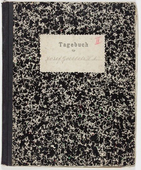 "Joseph Goebbels' bound journal from his gymnasium, or high school, 1912, signed ""Joseph Goebbels"" on the front cover and within. Sold for $1,300"