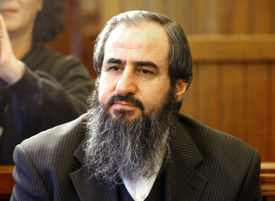 Mullah Krekar, co-founder of the radical Islamist group Ansar al Islam, sits in Norway's Supreme court in Oslo