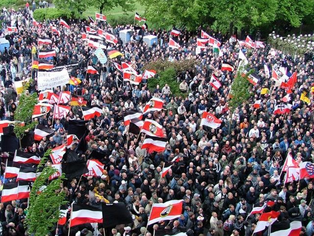 Rally by NPD supporters in Germany