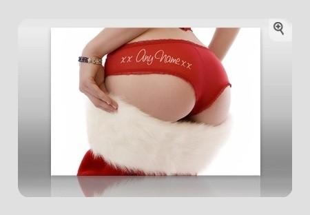 Personalised Christmas Underwear Print