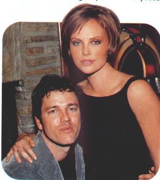 Charlize Theron and Stephan Jenkins