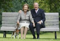 Belgium's King Albert and Queen Paola and their dog Pikki