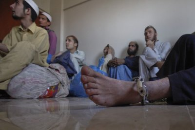 Chained Student in Karachi Madrassa