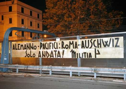 """""""Alemanno-Pacifici: take the one-way train Rome-Auschwitz""""."""