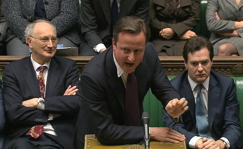 David Cameron in the Commons