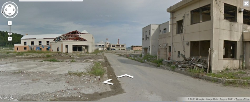 Japan Tsunami on Google Street View