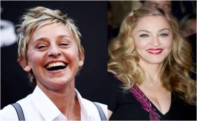 Ellen DeGeneres and Madonna
