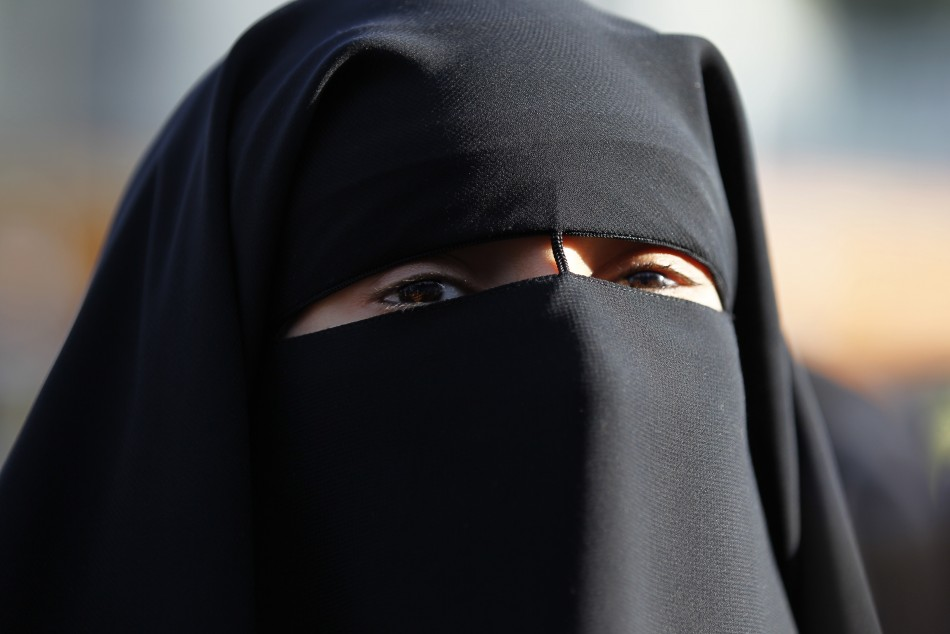 Female Muslims wearing Veil