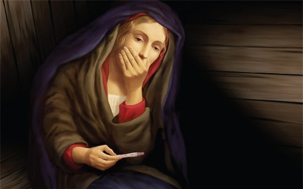 New Zealand Virgin Mary Pregnancy Test Poster Shocks-1108