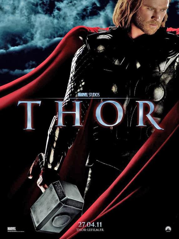 Thor played by Chris Hemsworth