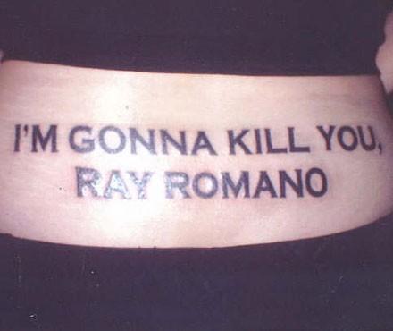 Death threat tattoo