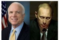 John McCain and Vladimir Putin