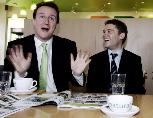 David Cameron and Aidan Burley