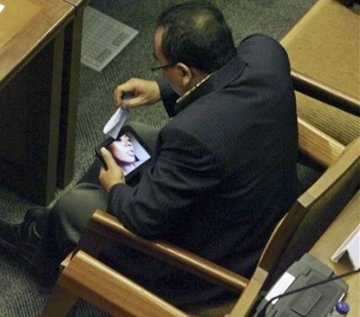 Indonesian lawmaker watches porn in parliament