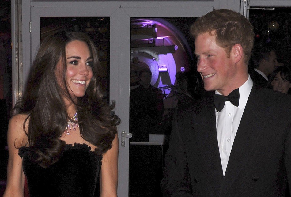 Kate Middleton Dazzles in Black Strapless Alexander McQueen Gown