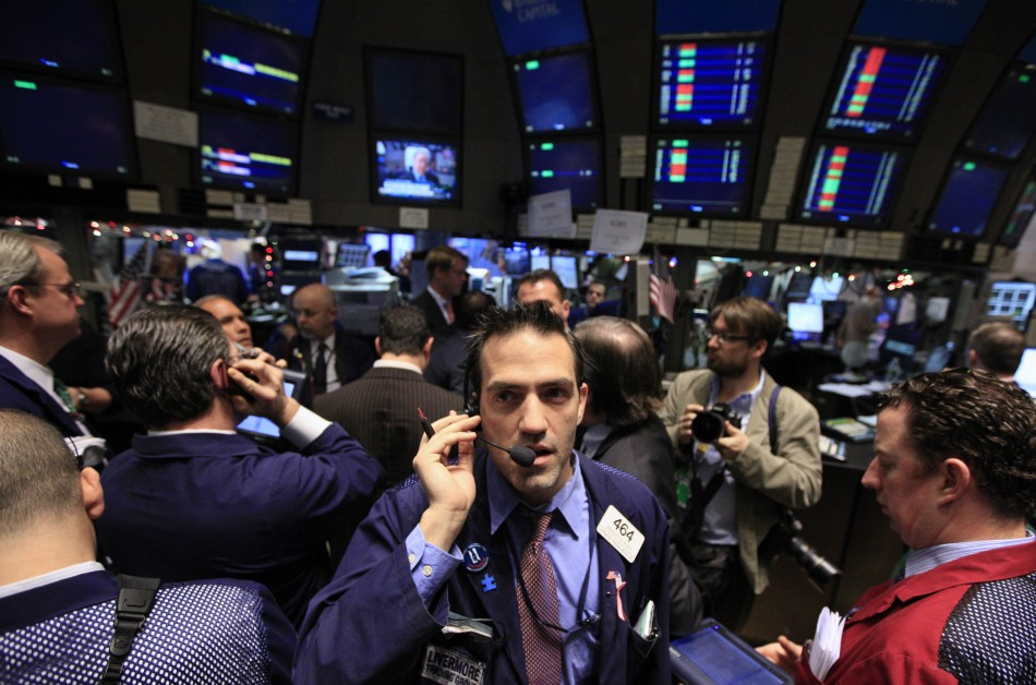 Traders on the floor of NYSE
