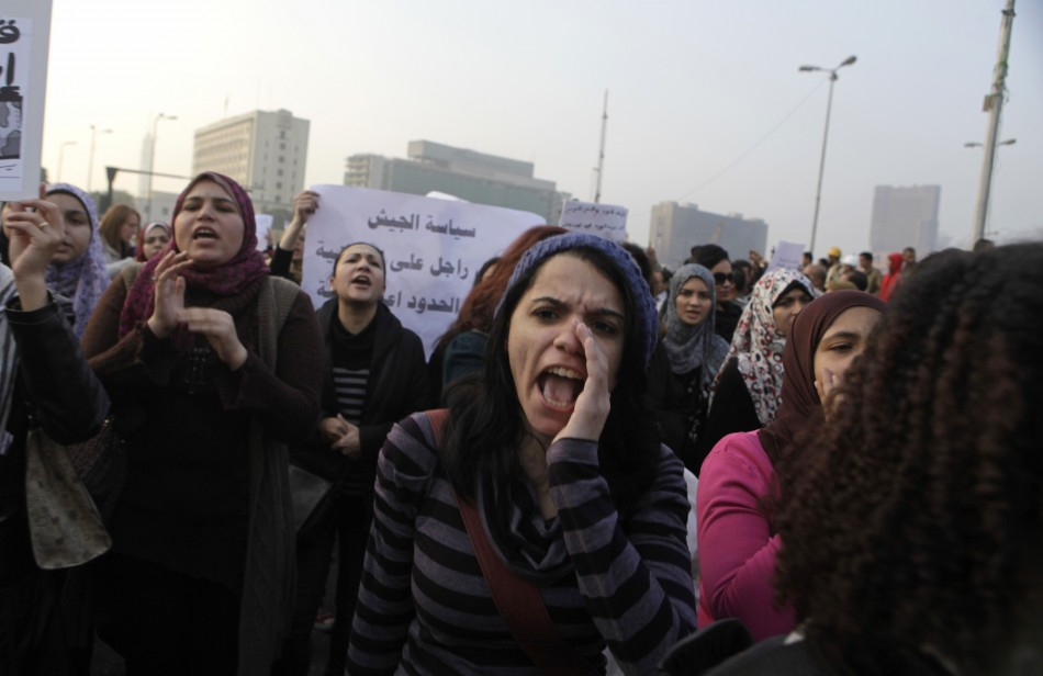 Egypt women protest