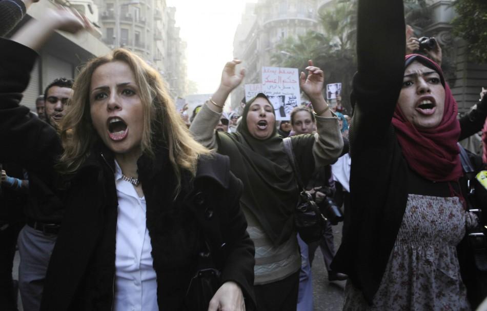 Women protest in Egypt