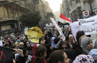 Women protest in Egypt