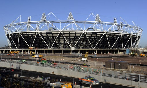 The Olympic Stadium at the Olympic Park, London.