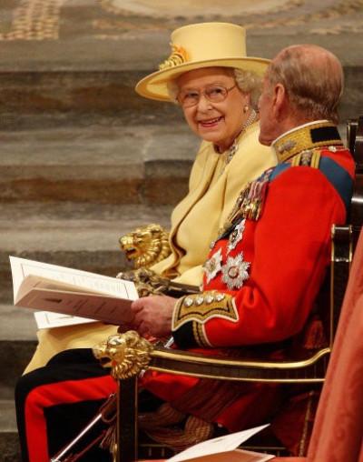 Queen Elizabeth II at Royal Wedding