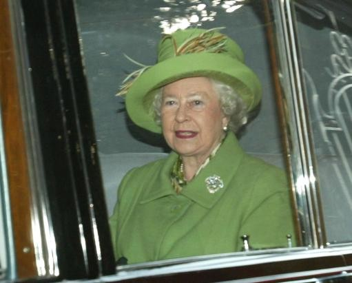 The Queen at Christmas church service in 2003
