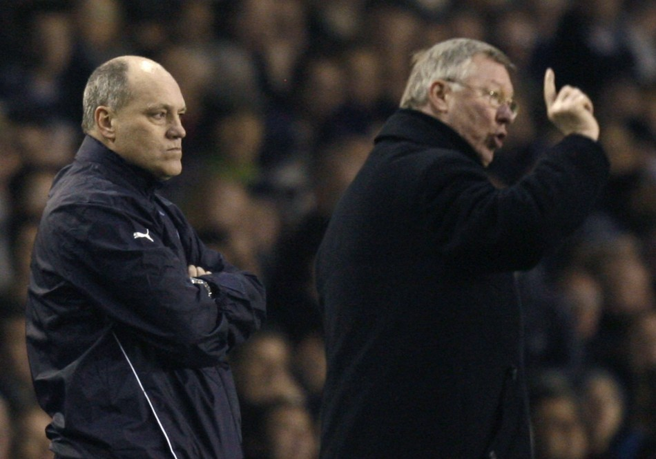 Alex Ferguson (R) and Martin Jol