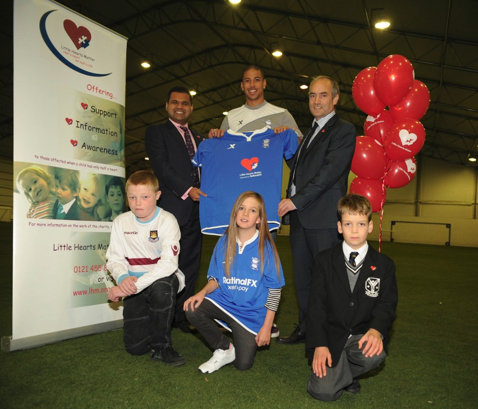 Birmingham City will play with the Little Hearts Matter logo on their shirts