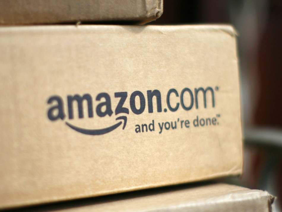 A box from online retailer Amazon.com is pictured on the porch of a house in Golden