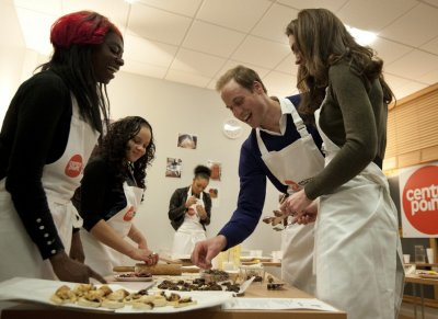 William and Kate cooking