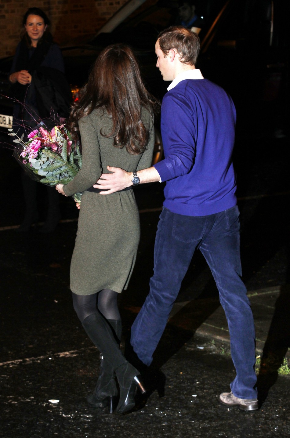 The couple leave Centrepoint