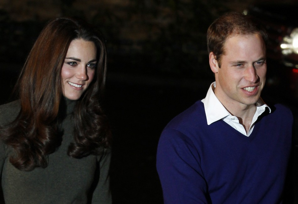 William and Kate arrive