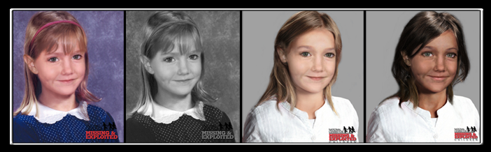 Age progression images of Madeleine McCann