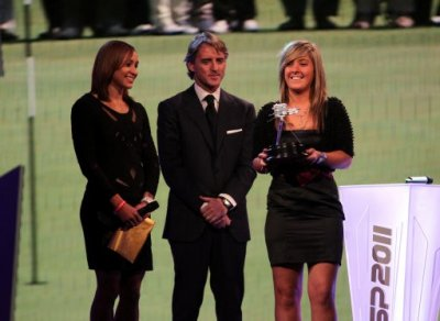 Lauren Taylor at awards ceremony