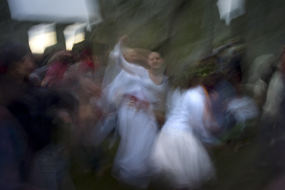 Winter Solstice 2011 Druids, Revellers and Pagans at Stonehenge Ceremony
