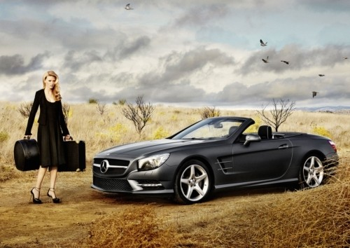 Lara Stone in Calvin Klein for Mercedes Benz Icons of Style Campaign