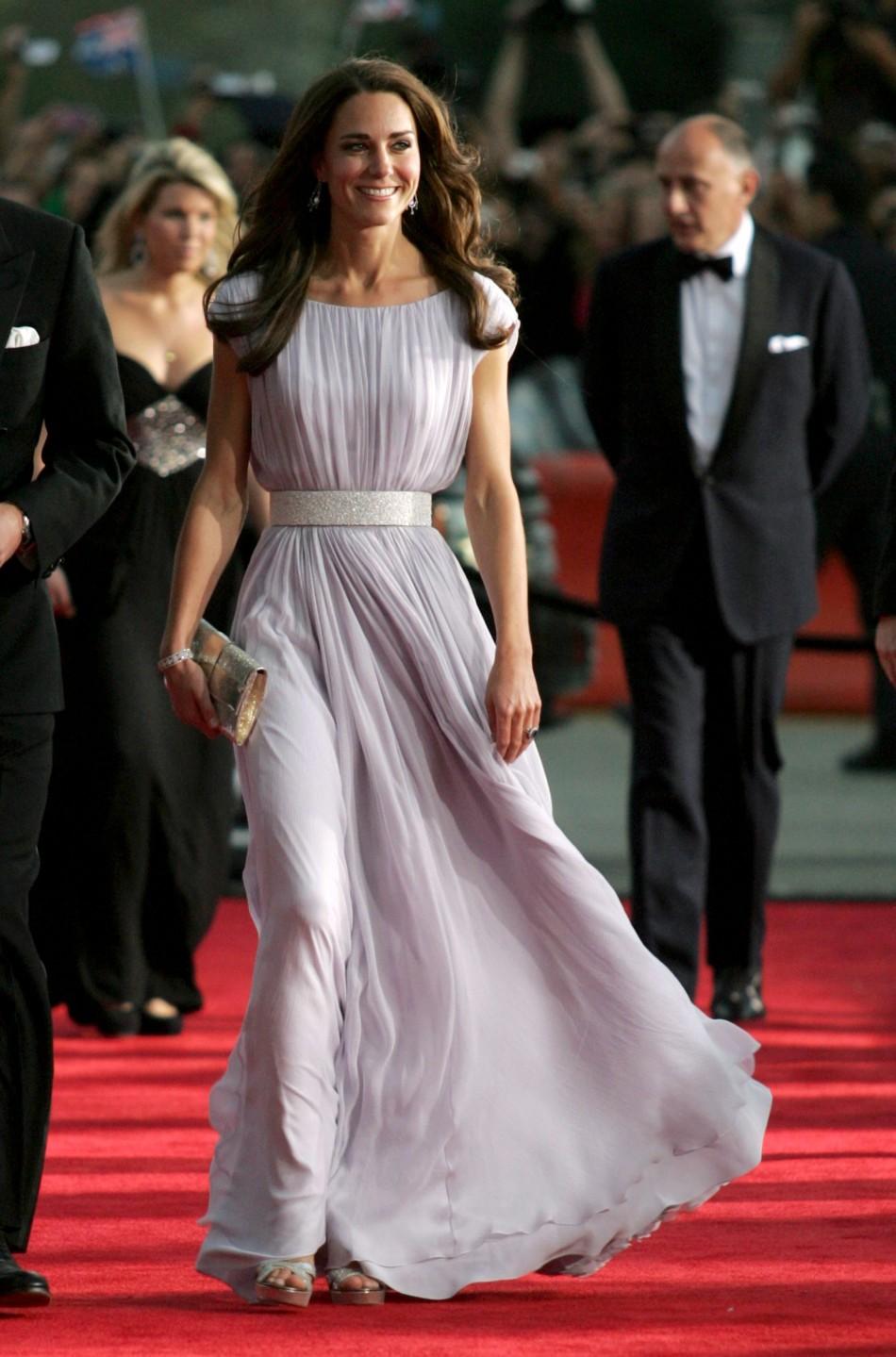 Kate Middleton in Sarah Burton for Alexander McQueen