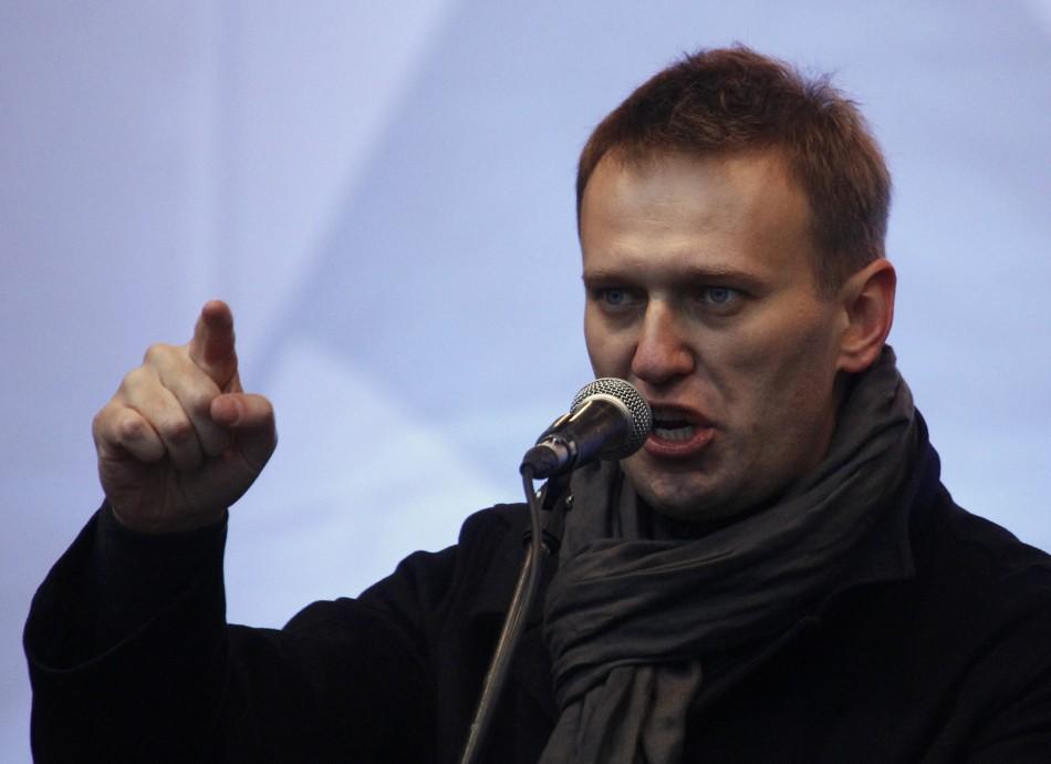Anti-corruption blogger Alexei Navalny