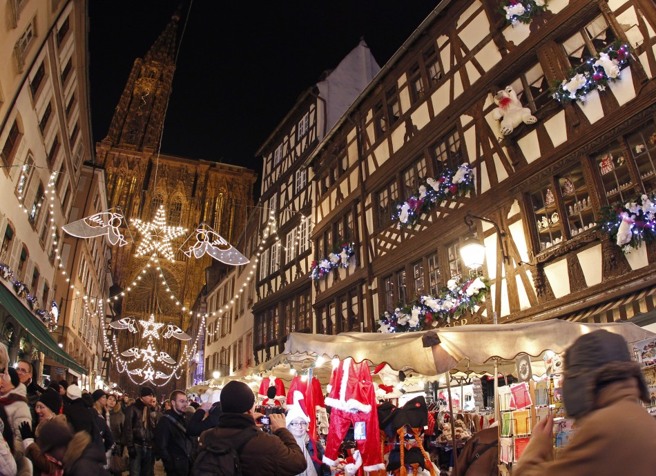Christmas Market near Strasbourg Cathedral, France