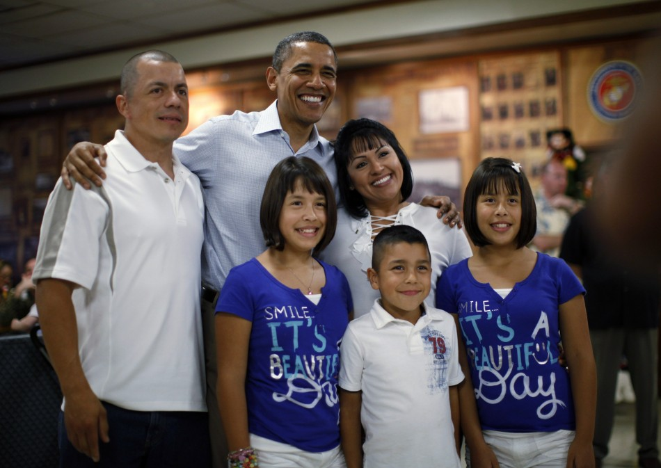 President Obama with a Family