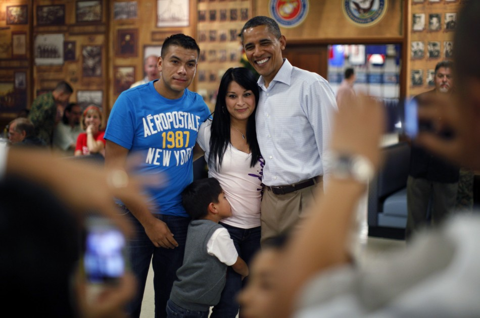 The US President with another family