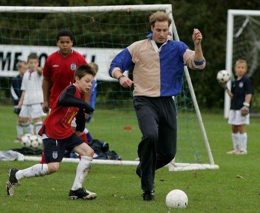 Prince Willaim Playing Football