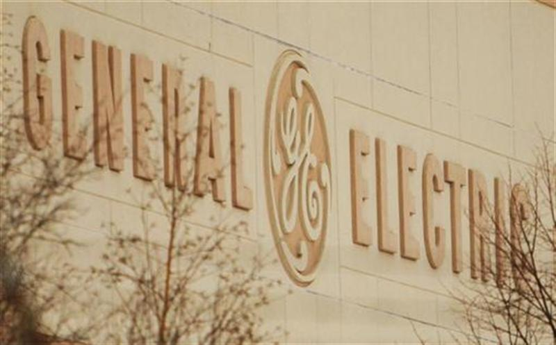 The company's logo is still visible on a closed General Electric Co. facility in Lynn