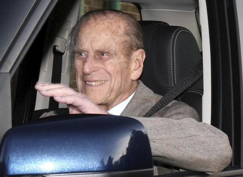 Prince Philip is driven away from Papworth Hospital in southern England