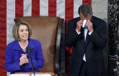 John Boehner becomes gets emotional