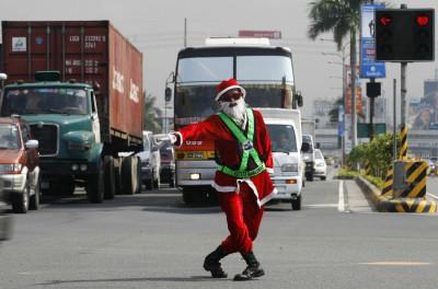Traffic Controller Santa