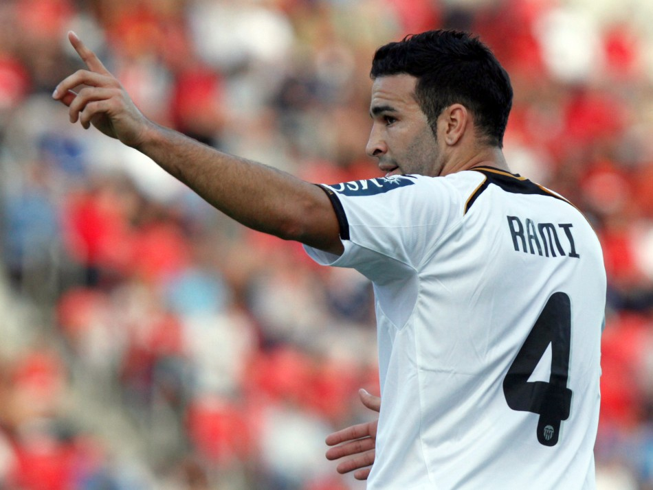 Valencia's Adil Rami has been linked to Manchester United