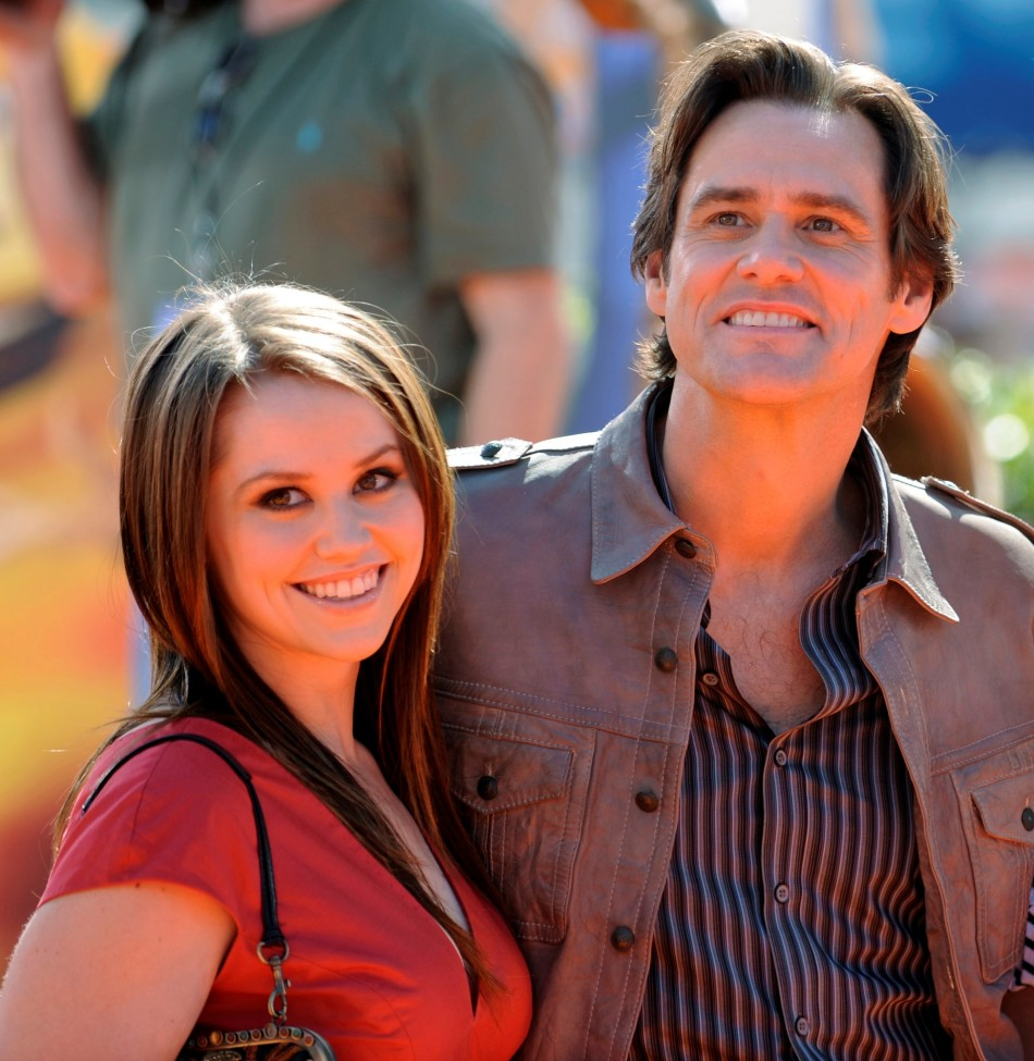 Jim Carrey with his daughter Jane Erin Carrey in 2008