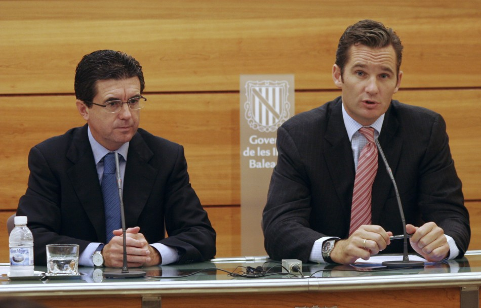 Spain's Inaki Urdangarin, the son-in-law of Spain's King Juan Carlos and Queen Sofia
