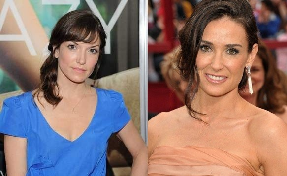 demi moore and Lorene Scafaria